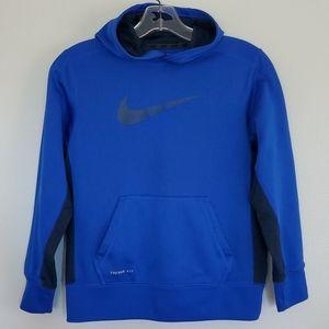 Nike Therma Fit Blue & Black Hoodie - M